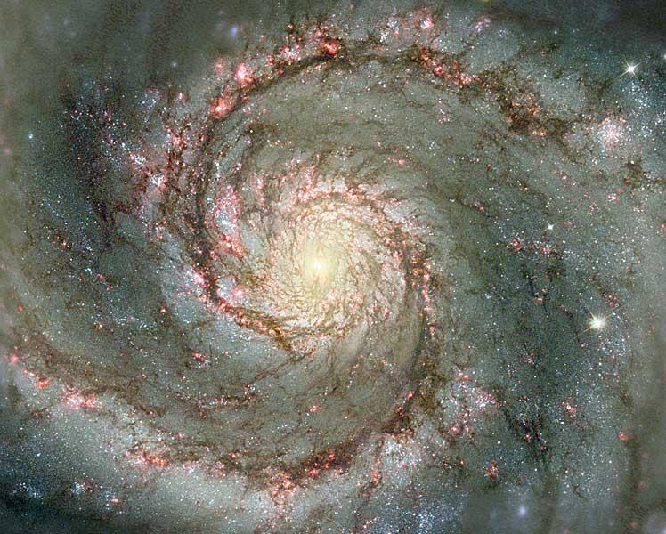M 51: la galaxie du Tourbillon de poussière et d\'étoiles