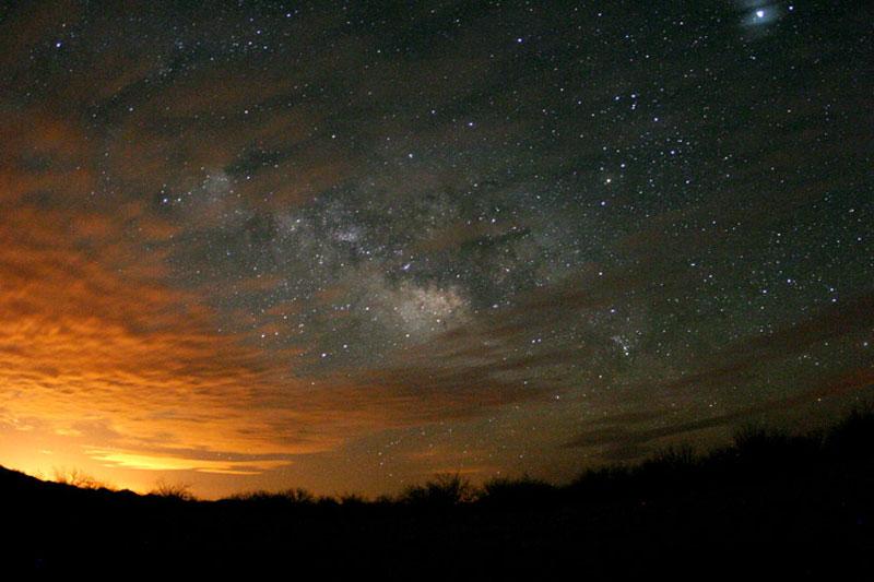 Nuages d'étoiles au-dessus de l'Arizona.