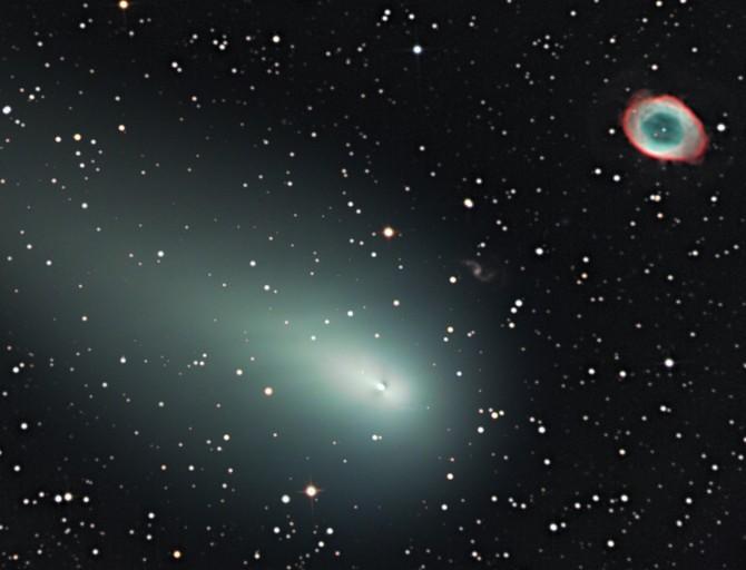 La comète rencontre la Nébuleuse de l'anneau, premier épisode.