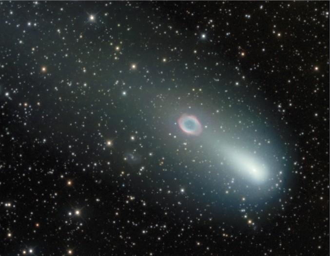 La comète rencontre la Nébuleuse de l'anneau, deuxième épisode.
