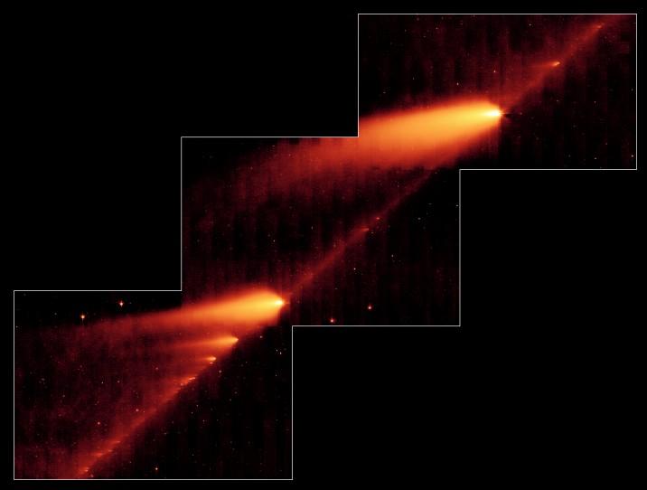 Comète en désintégration