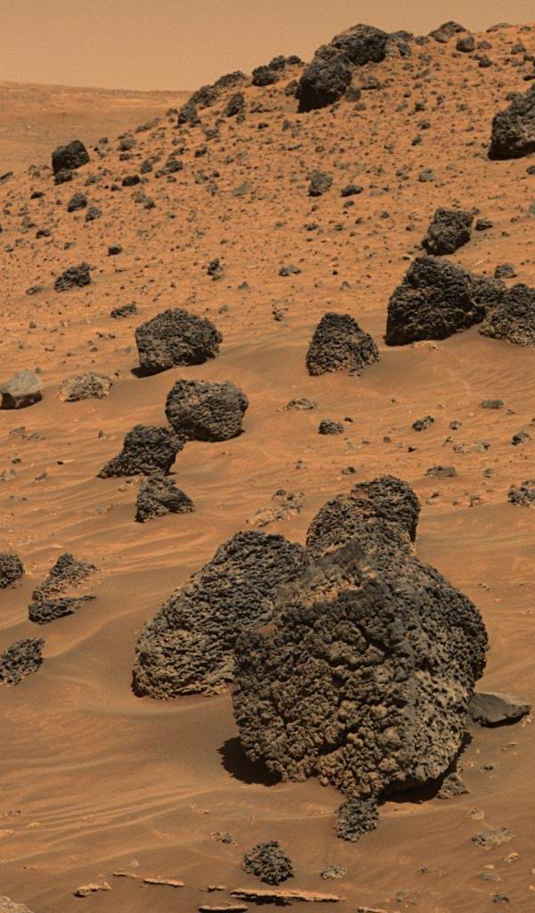 Rocher volcanique sur Mars