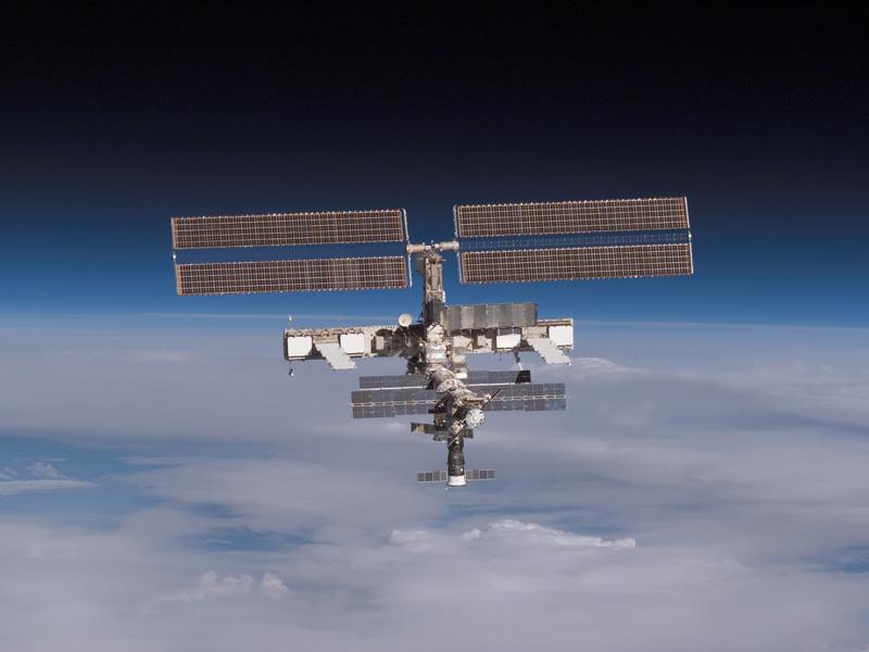 La Station Spatiale Internationale sur l'Horizon