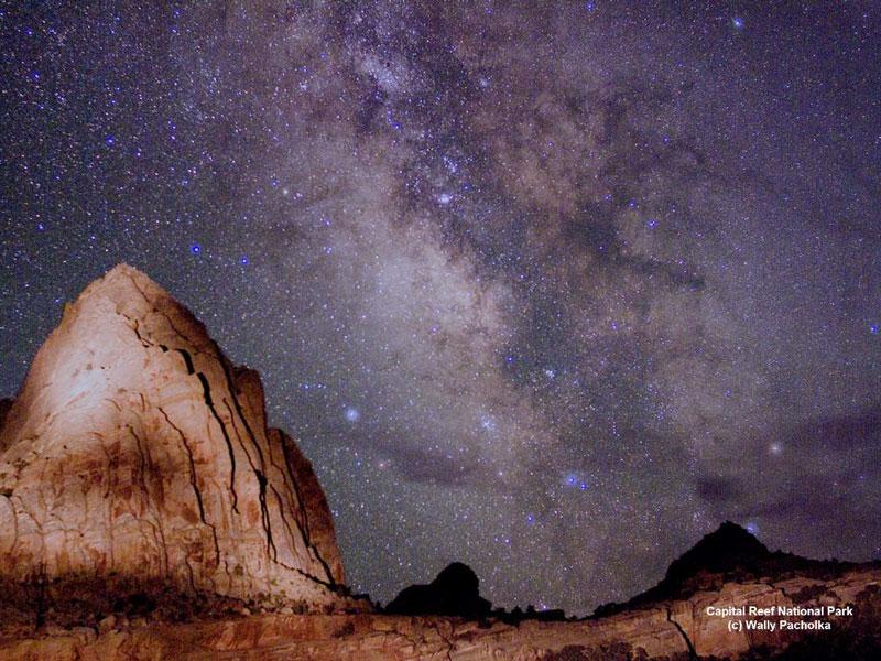 La Voie Lactée au-dessus de l'Utah