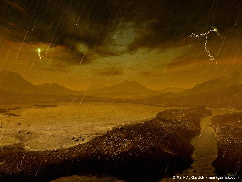 Possibles pluies de méthane sur Titan