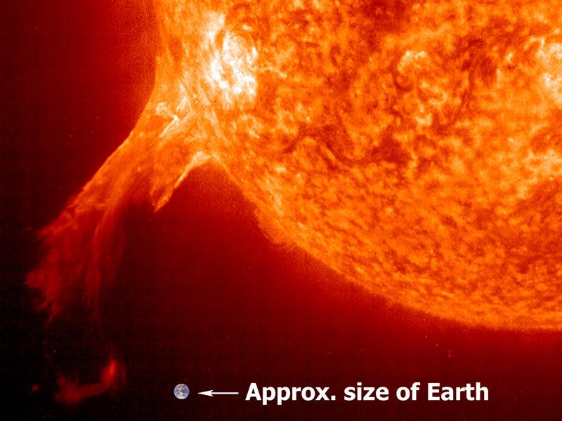 Une protubérance solaire vue par SOHO