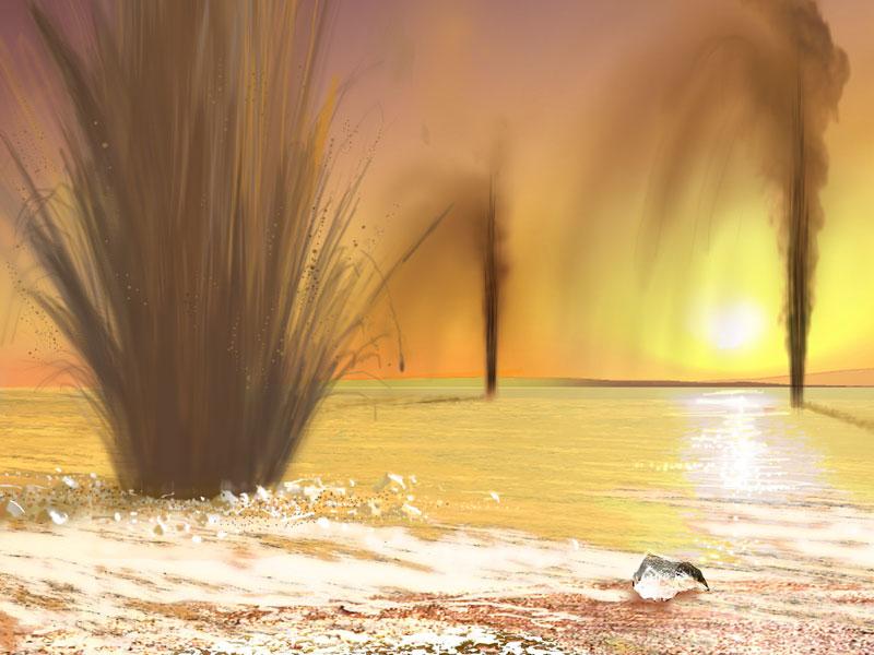 L'hypothèse de jets gazeux sur Mars