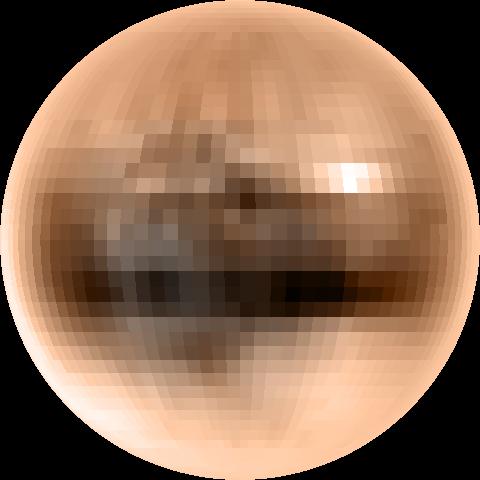 Pluton en vraies couleurs