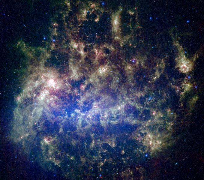 Le Grand Nuage de Magellan en infrarouge