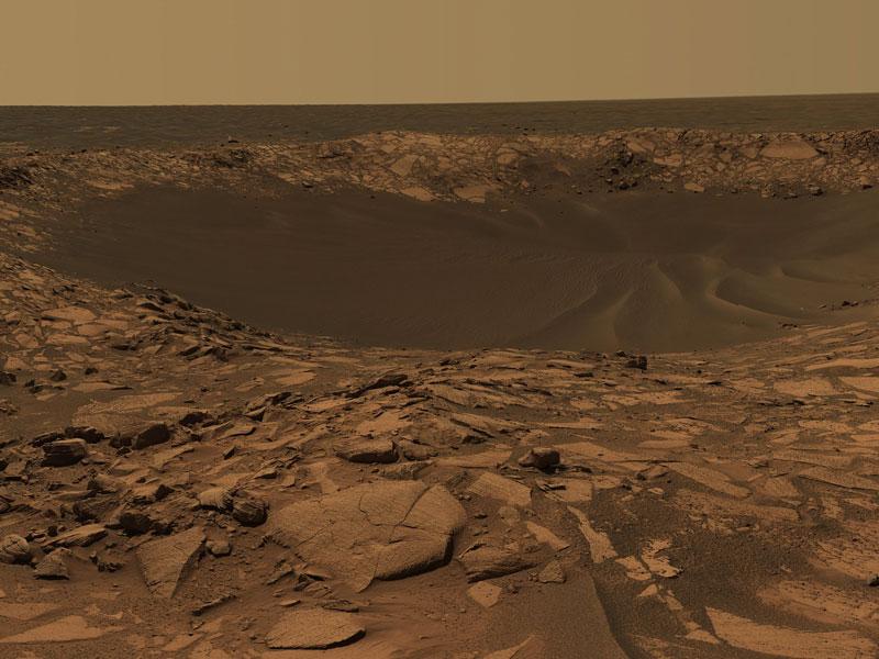 Le cratère Beagle sur Mars