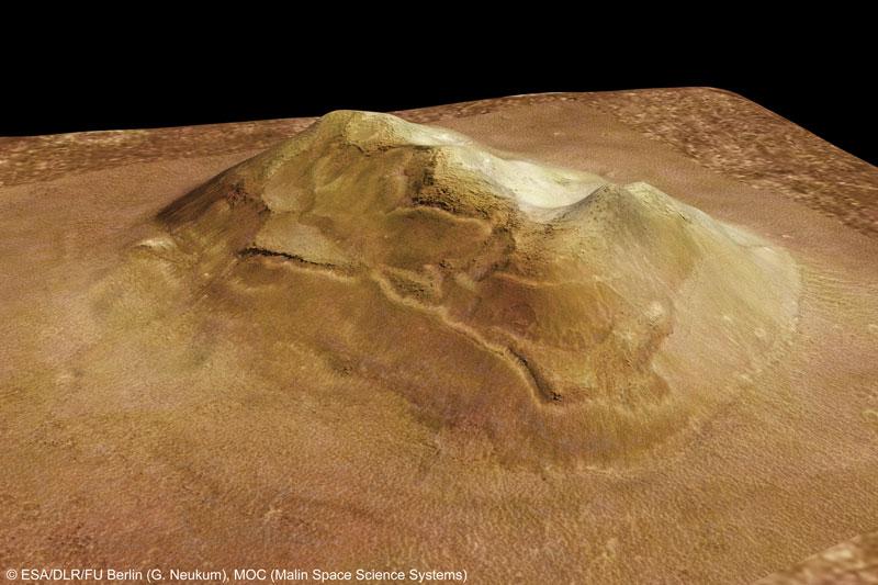 Plan serré sur le Visage de Mars
