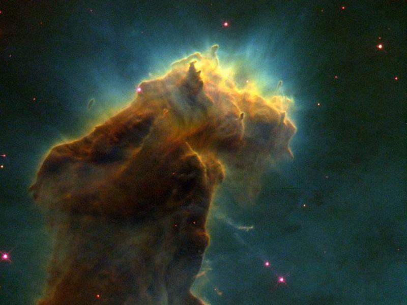 Nid d\'étoiles dans la Nébuleuse de l\'Aigle