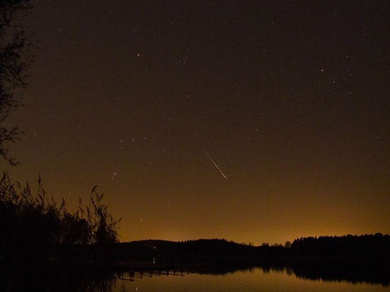 Une étoile filante au dessus de la Suède