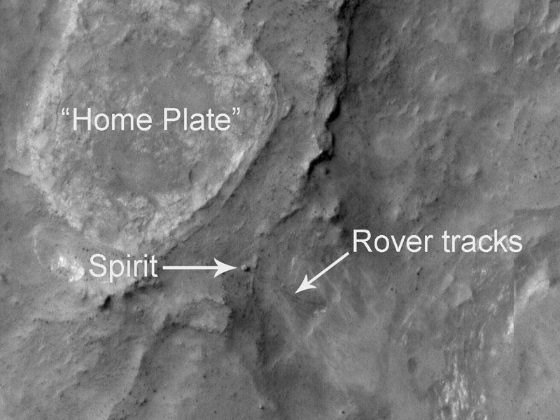 Spirit vu depuis l\'orbite martienne