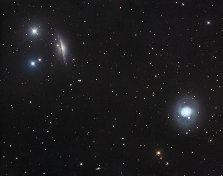 NGC 1055 et M77