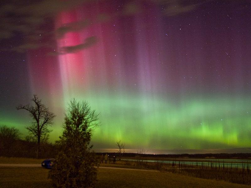 Aurores polaires au-dessus de l\'Iowa