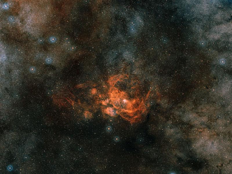 La région de formation d\'étoiles NGC 6357