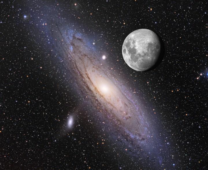 La Lune au-dessus d\'Andromède