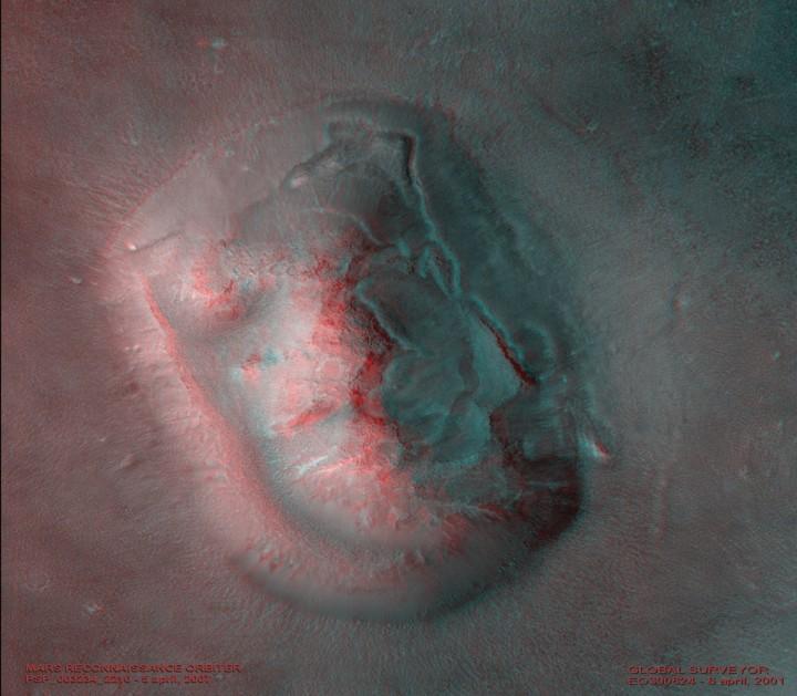 Le Visage de Mars en 3D
