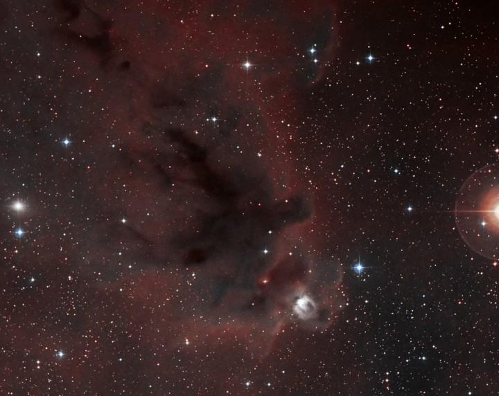 LDN 1622, sombre nébuleuse d'Orion