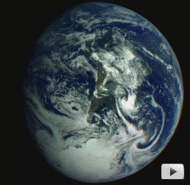 La rotation terrestre vue par Galileo