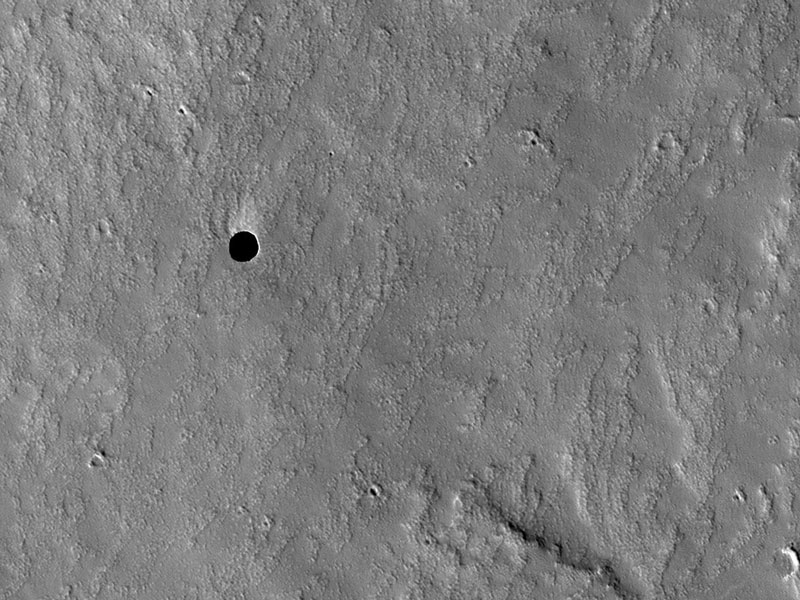 Un trou sur Mars