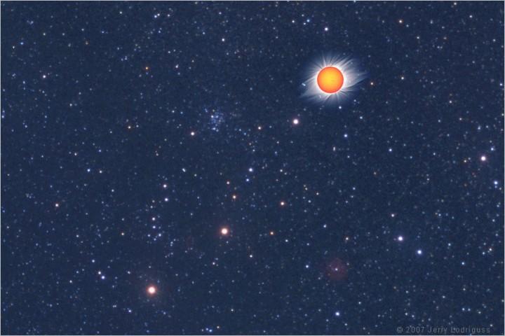 Soleil de Solstice et étoiles