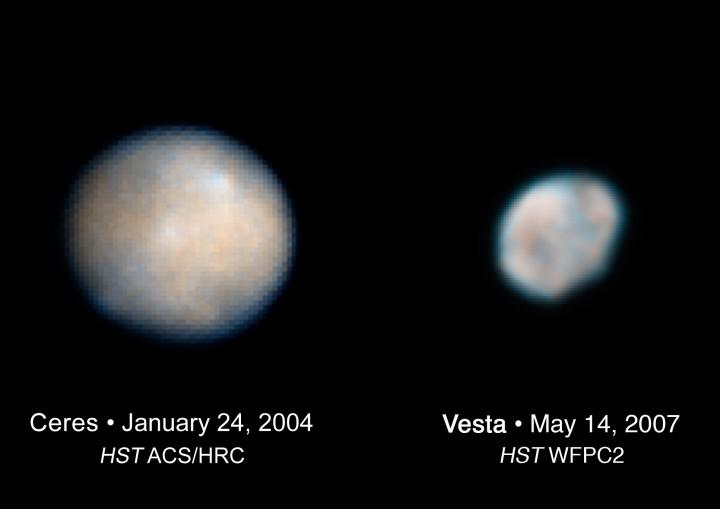Cérès et Vesta, petits mondes