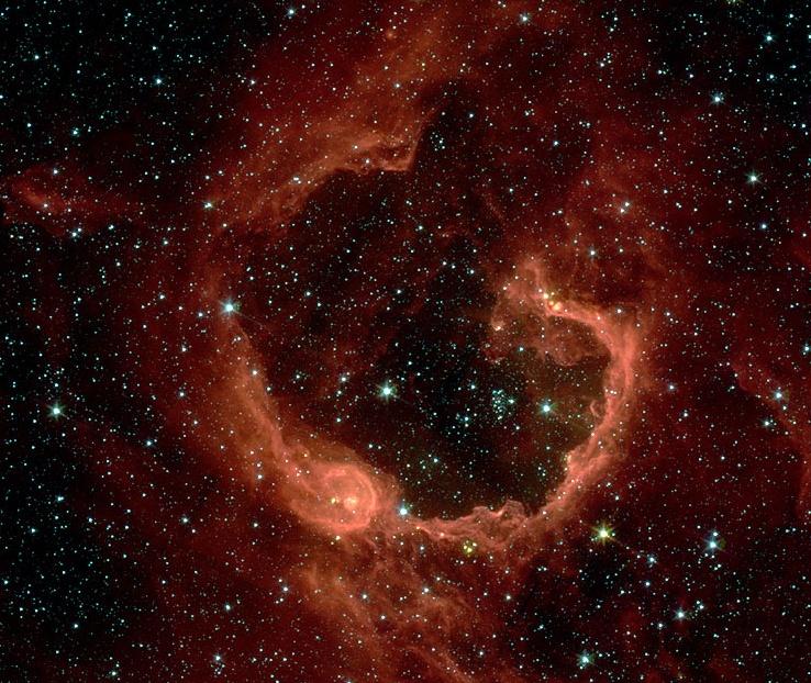 RCW 79, des étoiles dans une grande bulle