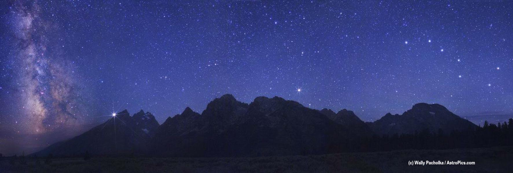 Un ciel spectaculaire au dessus des Grands Tetons