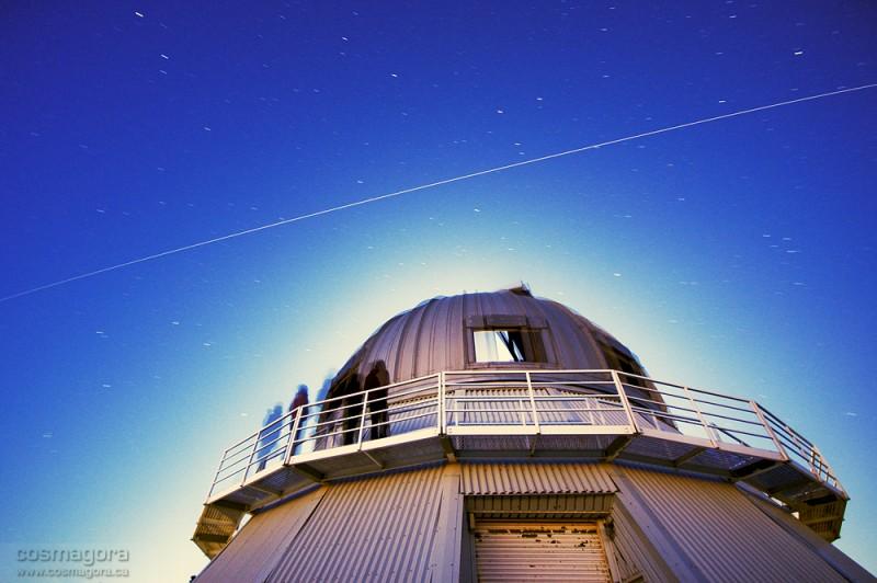 La Station Spatiale Internationale au-dessus de l\'Observatoire du Mont Megantic