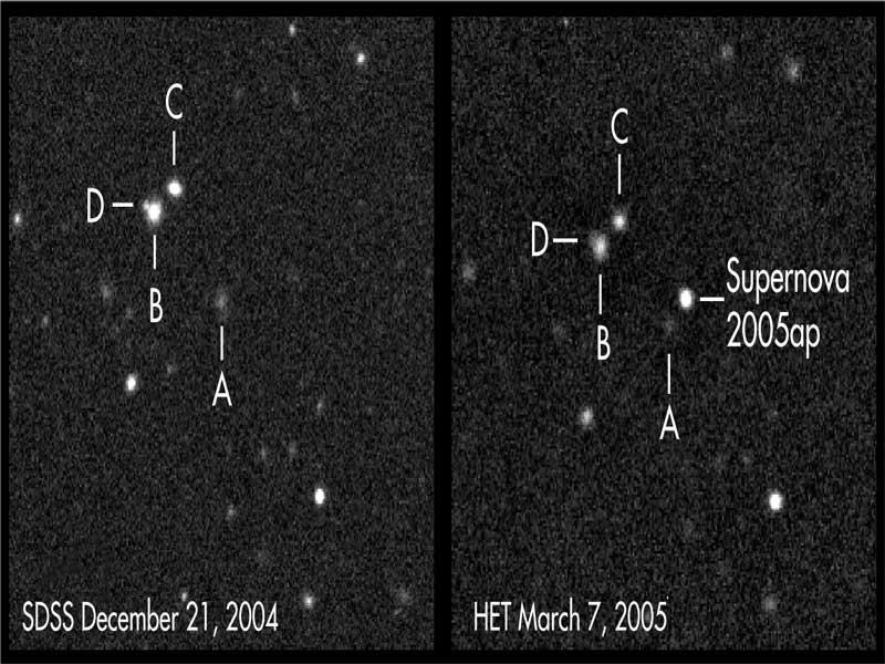 SN 2005ap, la plus brillante supernova observée à ce jour