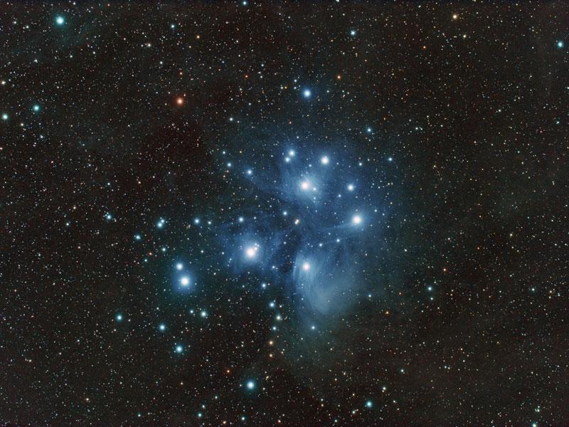 M45, l\'amas des Pléiades
