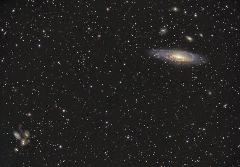 Galaxies dans Pégase