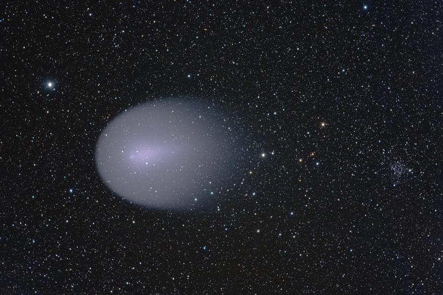 La comète Holmes au-dessus de la Hongrie