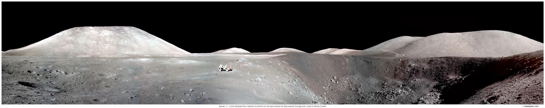 Apollo 17 et le panorama du cratère Shorty