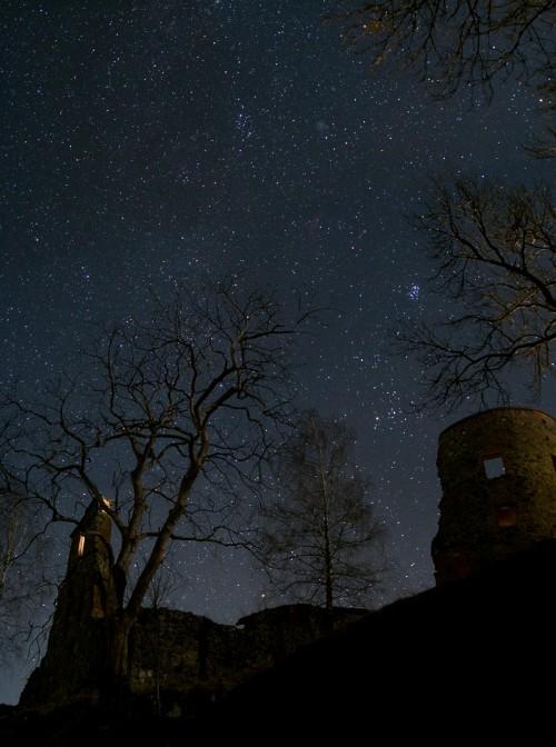 Un château sous les étoiles