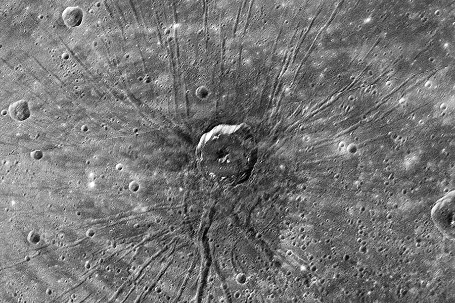 Un cratère en forme d\'araignée sur Mercure