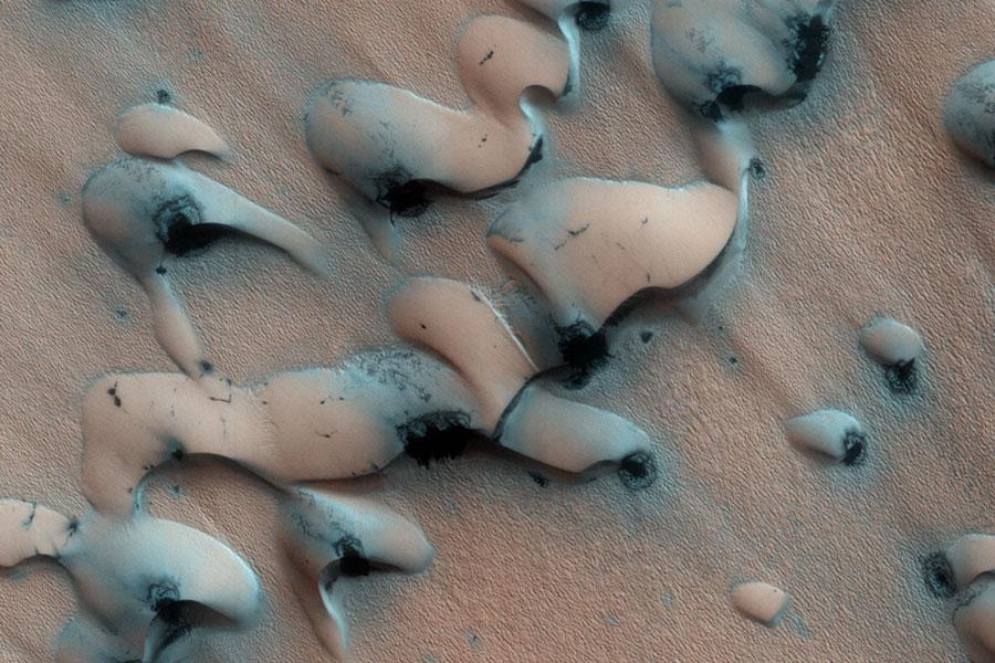 Dégel dunaire sur Mars