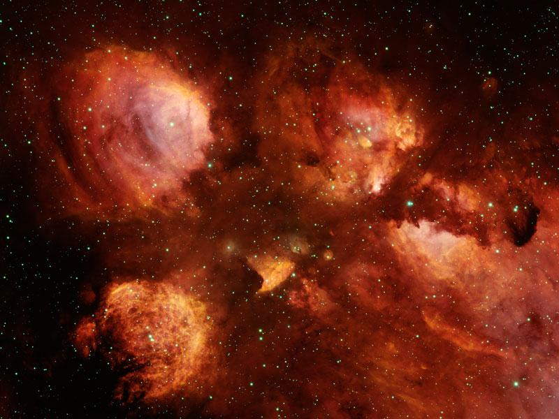 NGC 6334, la nébuleuse de la Patte de Chat