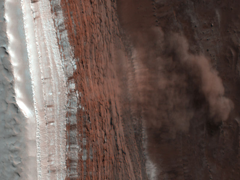 Une avalanche sur Mars