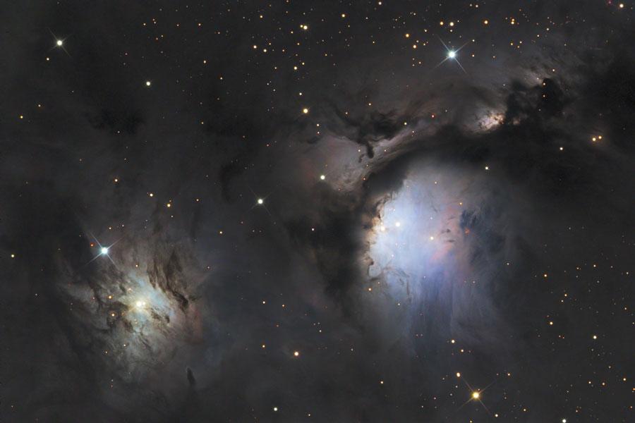 M78 et les nuages de poussière réflecteurs d'Orion