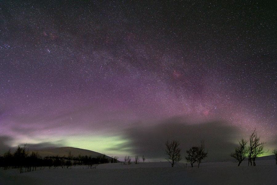 Délices célestes au-dessus de la Suède