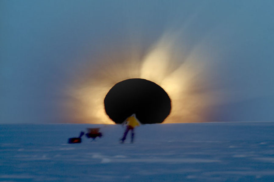 Une éclipse totale de Soleil en Antarctique