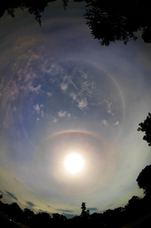 Cercles dans le ciel