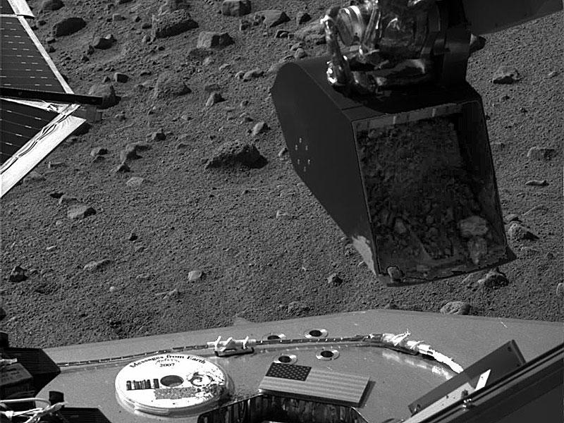 Echantillon de sol martien prêt à l'analyse