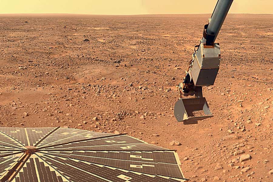 Phoenix à la recherche d'indices sur Mars