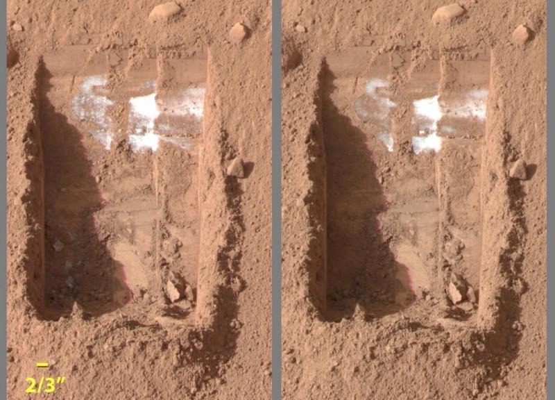 Glace sur Mars : avis de disparition
