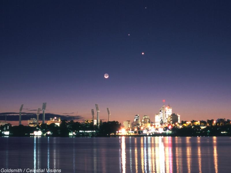 Planètes au-dessus de Perth