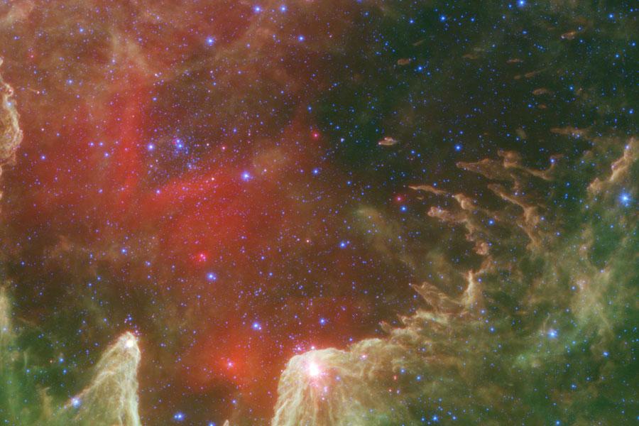 W5, les piliers de la création stellaire